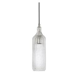 Light & Living Hanglamp 'Nyla' 12cm, glas nikkel