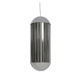 Light & Living Hanglamp 'Grayson' 24cm, chroom+smoke