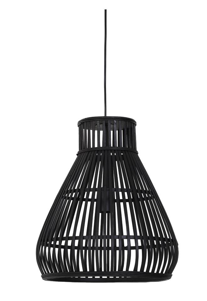 Light & Living Hanglamp 'Timaka' 37cm, rotan zwart, kleur