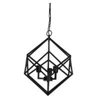 Light & Living Hanglamp 'Drizella' 3-Lamps, mat zwart