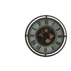 J-Line Klok 'Leopoldus' Small, kleur Grijs, Ø68,5cm
