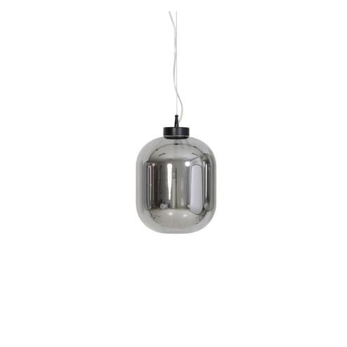 Light & Living Hanglamp 'Julia' 25cm, glas smoke