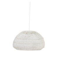 Light & Living Hanglamp 'Evelie' 50.5cm, rotan wit