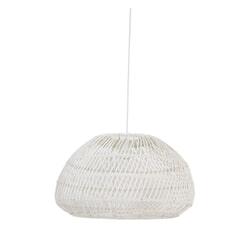 Light & Living Hanglamp 'Evelie' 50.5cm, rotan wit