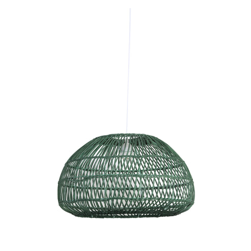 Light & Living Hanglamp 'Evelie' 50.5cm, rotan groen