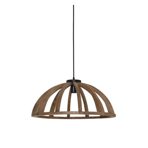 Light & Living Hanglamp 'Eliseo' 60cm, hout bruin-antiek zwart