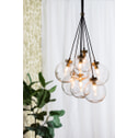 Light & Living Hanglamp 'Alvida' 7-Lamps, glas antiek brons
