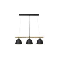 Light & Living Hanglamp 'Banu' 3-Lamps, hout zwart