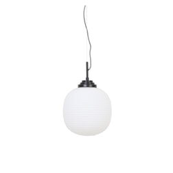 Light & Living Hanglamp 'Milkey' 28cm, glas wit