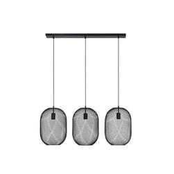 Light & Living Hanglamp 'Reilley' 3-Lamps, kleur Mat Zwart