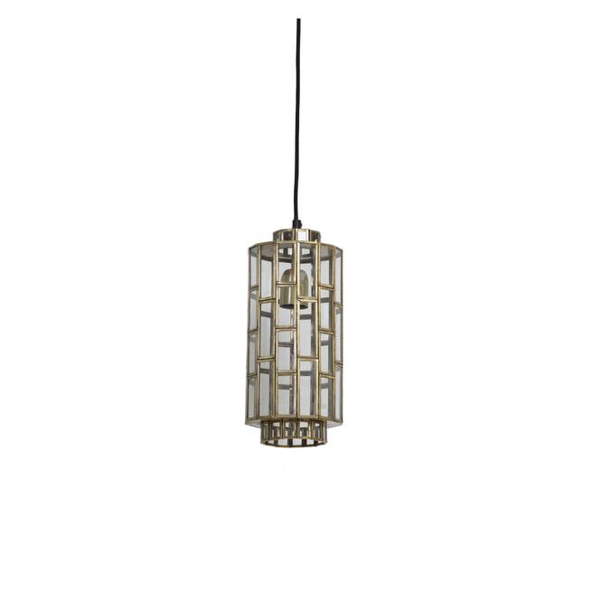 Light & Living Hanglamp 'Søstrene' 15cm, antiek brons+glas