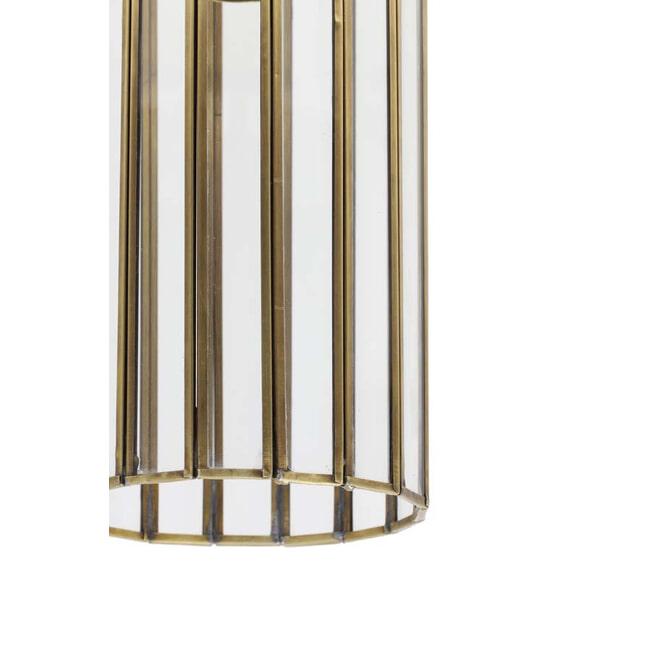 Light & Living Hanglamp 'Strøby' Antiek Brons + Glas