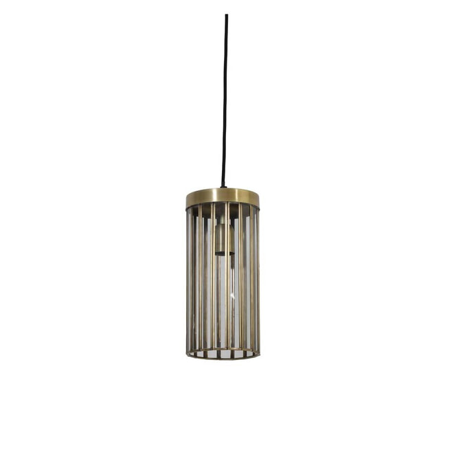 Light & Living Hanglamp 'Strøby' antiek brons+glas