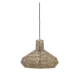 Light & Living Hanglamp 'Masey' 49cm, leer naturel