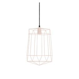 Light & Living Hanglamp 'Milon', licht roze