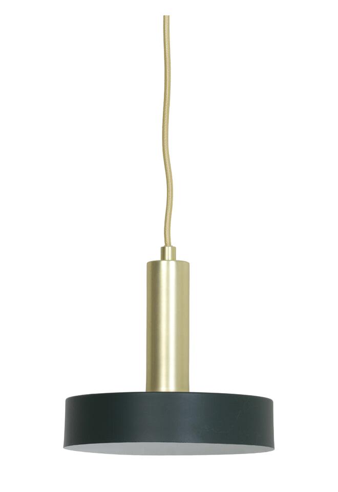 Light & Living Hanglamp 'Bosac' 20cm, donker groen-goud