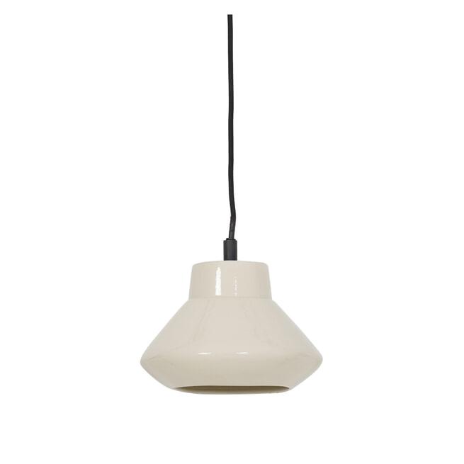 Light & Living Hanglamp 'Sarina' 23cm, keramiek glanzend wit