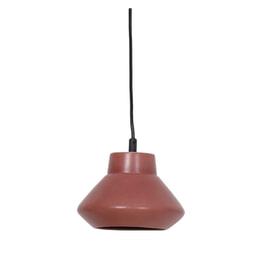 Light & Living Hanglamp 'Sarina' 23cm, keramiek mat donker roze
