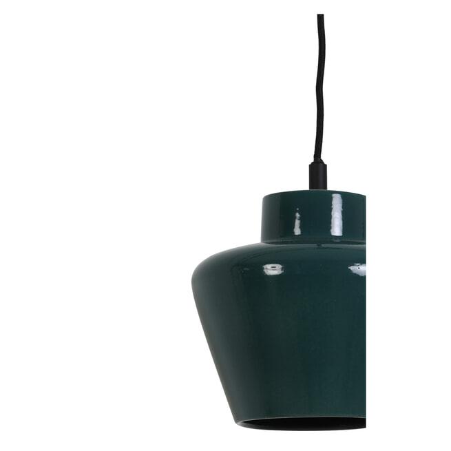 Light & Living Hanglamp 'Souma' 24cm, keramiek glanzend donker groen
