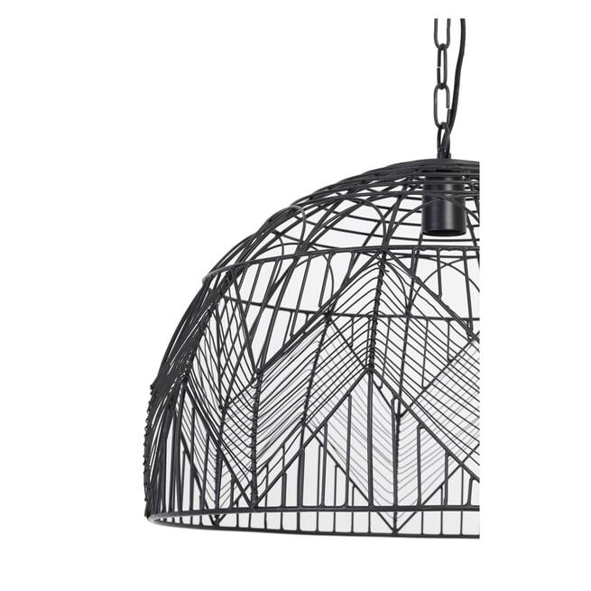 Light & Living Hanglamp 'Kalibo' 55cm, mat zwart