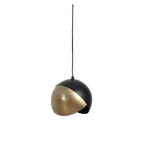 Light & Living Hanglamp 'Namco' 20cm, antiek brons-mat zwart
