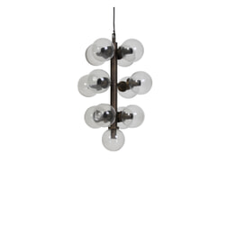 Light & Living Hanglamp 'Chavelli' 13-Lamps, glas-antiek brons