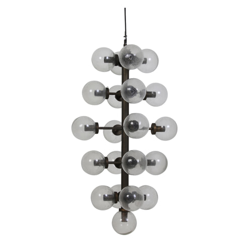 Light & Living Hanglamp 'Chavelli' 21L, glas-antiek brons