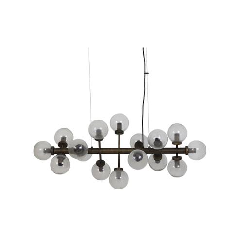 Light & Living Hanglamp 'Chavello' 16L, glas-antiek brons