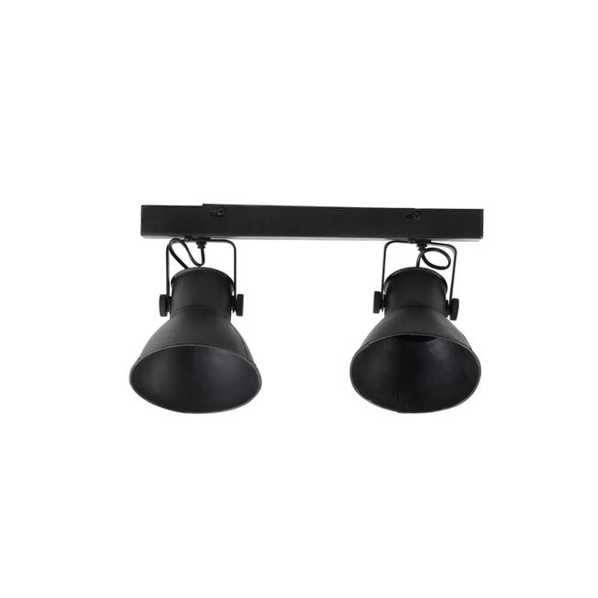 Light & Living Hang-/wandlamp 'Eliano' 2-Lamps, kleur Mat Zwart