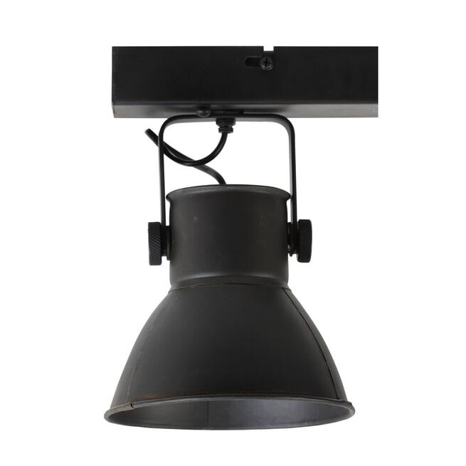Light & Living Hang-/wandlamp 'Eliano' 3-Lamps, kleur Mat Zwart