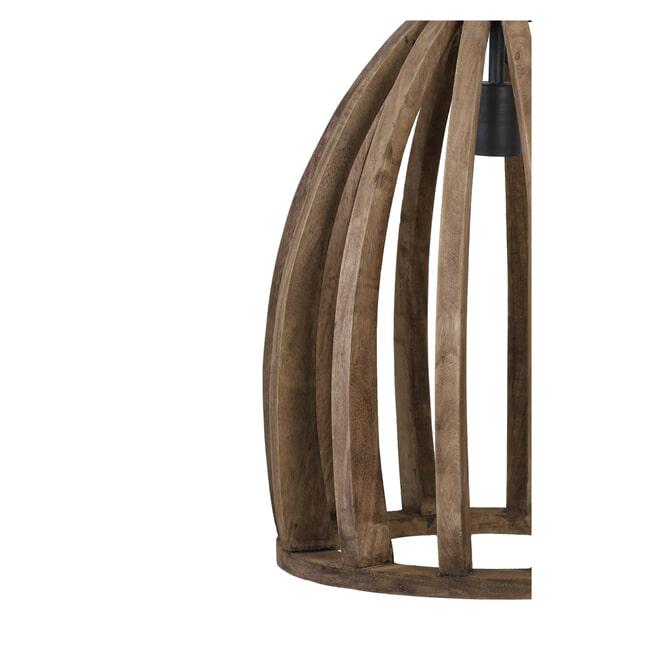 Light & Living Hanglamp 'Haranka' 38cm, hout donker bruin