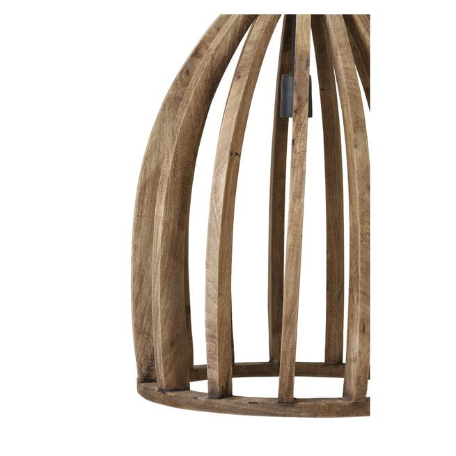 Light & Living Hanglamp 'Haranka' 47cm, hout donker bruin