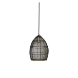 Light & Living Hanglamp 'Meya' 20cm, zwart-goud