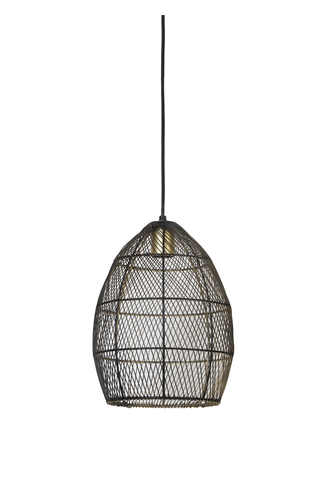 Light & Living Hanglamp 'Meya' 23cm, kleur Zwart