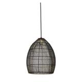 Light & Living Hanglamp 'Meya' 30cm, zwart-goud