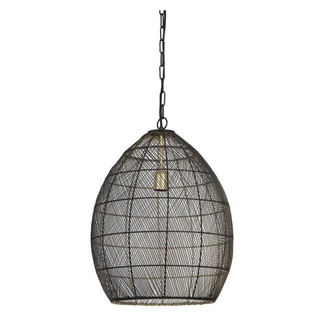 Light & Living Hanglamp 'Meya' 40cm, zwart-goud