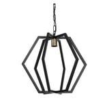 Light & Living Hanglamp 'Bresca' 46cm, kleur Mat Zwart