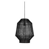 Light & Living Hanglamp 'Vitora' 37cm, mat zwart