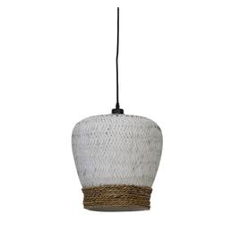 Light & Living Hanglamp 'Mikki' 34cm, rotan wit