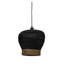 Light & Living Hanglamp 'Mikki' 34cm, rotan zwart
