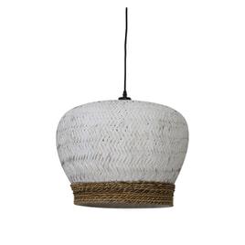 Light & Living Hanglamp 'Mikki' 46cm, rotan wit