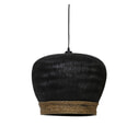 Light & Living Hanglamp 'Mikki' 46cm, rotan zwart