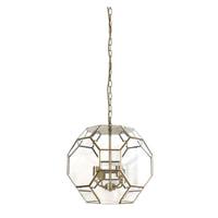 Light & Living Hanglamp 'Lennox' 34cm, brons+glas