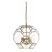 Light & Living Hanglamp 'Lennox' 50cm, brons+glas