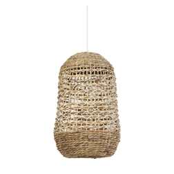 Light & Living Hanglamp 'Tripoli' 37.5cm, rotan naturel+wit