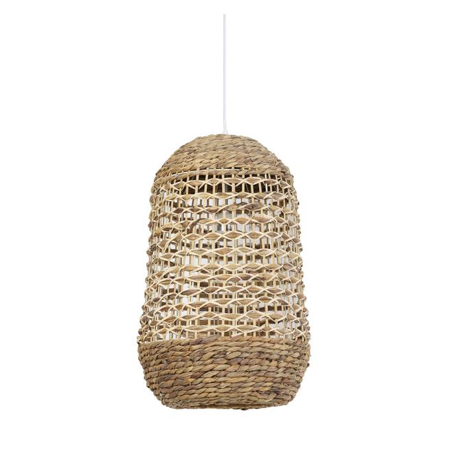 Light & Living Hanglamp 'Tripoli' 37.5cm, rotan naturel+wit