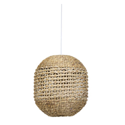 Light & Living Hanglamp 'Tripoli' 42cm, rotan naturel+wit