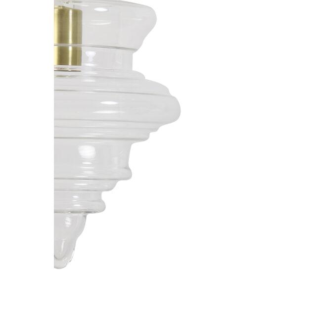 Light & Living Hanglamp 'Rivne' 35cm, glas transparant