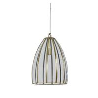Light & Living Hanglamp 'Xamo' 30cm, brons+glas