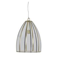 Light & Living Hanglamp 'Xamo' 40cm, brons+glas